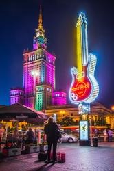 Pałac Kultury Pod Gitarą - plakat premium Wymiar do wyboru: 60x80 cm