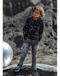 Spodnie jeansowe z kieszeniami ice dye grey tkanina