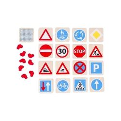Znaki drogowe drewniana gra pamięciowa
