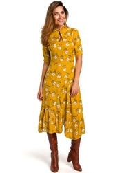 Sukienka Rozkloszowana z Dopasowaną Górą Model 1