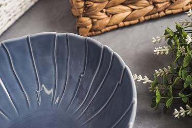 Lubiana sunny salaterka porcelanowa okrągła 22.5 cm niebieska