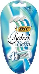 Bic soleil bella, maszynka jednorazowa do golenia dla kobiet,  3 sztuki