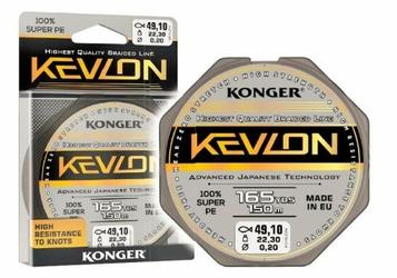 Plecionka Kevlon Black x4 0,16mm 150m 15,90kg Konger