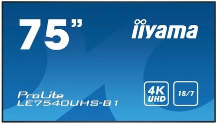 IIYAMA Monitor 75 LE7540UHS-B1 4K,OPS,187,LAN,IPS