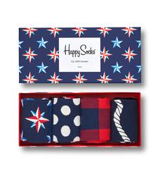 Giftbox 4-pack Skarpety Happy Socks Nautical - XNAU09-6000