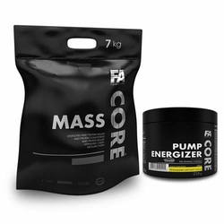 FA MASS CORE - 7000g + PumpCore Energizer - 216g - Toffee  Cactus Orange