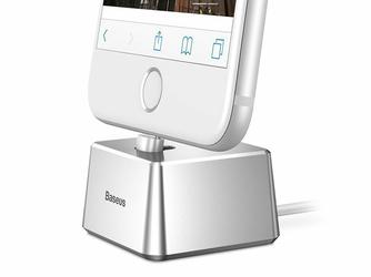 Baseus Quadrate stacja dokująca kabel lightning iPhone silver