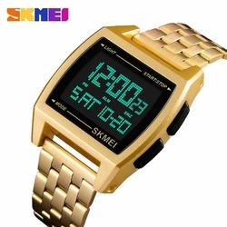 Zegarek męski SKMEI 1368 elektroniczny gold - GOLD