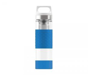 Termos szklany sigg wmb z zaparzaczem hot amp; cold glass 400 ml electric blue