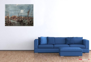molo i riva degli schiavoni z  basenu  san marco  francesco lazzaro guardi ; obraz - reprodukcja