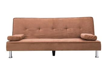Sofa trzyosobowa z funkcją spania divi brązowa welur