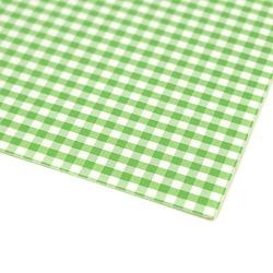Papier ozdobny w kratkę 300g 24x34 cm - zielony - ziel