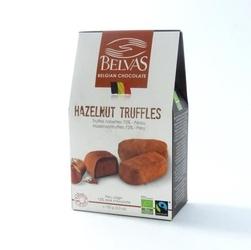 Belvas | hazelnut truffles czekoladki trufle mleczne orzechowe | organic - fairtrade