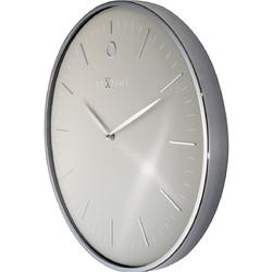 Nowoczesny zegar ścienny glamour nextime 40 cm, szary  srebrny 3235 gs