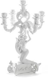 Świecznik Burlesque Mermaid biały