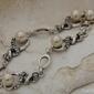 Alvaro - srebrna bransoletka perły i kryształy