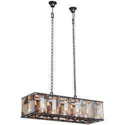 Lampa wisząca w stylu loft - metalowa klatka z dużymi kryształami vitaluce ve4283-112