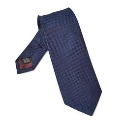 Elegancki granatowy krawat jedwabny van thorn o prostym splocie