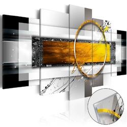 Obraz na szkle akrylowym - złocisty strzał glass