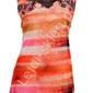 Bluzka w odcieniach pomarańcza i korala z cyrkoniami