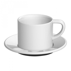 Filiżanka ze spodkiem biała Bond Cappuccino Loveramics