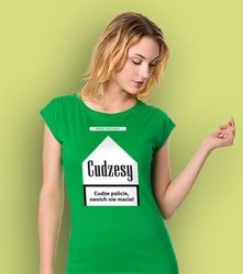 Cudzesy t-shirt damski zielony s