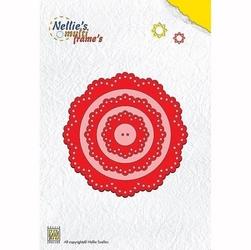 Wykrojnik Nellies multi frames - kwiatek - 020