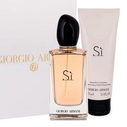 Zestaw giorgio armani si perfumy damskie - woda perfumowana 100ml + balsam do ciała 75ml