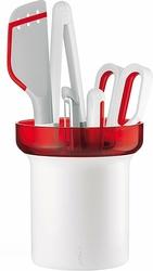 Narzędzia kuchenne Kitchen Active Design w zestawie 5 el. czerwone