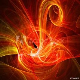 Obraz na płótnie canvas czteroczęściowy tetraptyk ptak ognia chaosu