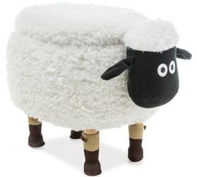 Pufa ze schowkiem owieczka olga 2 biała