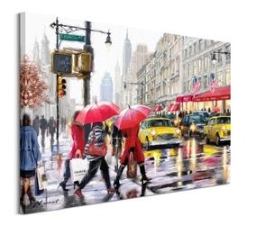 New york shoppers - obraz na płótnie
