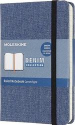 Notes moleskine p denim w linię antwerp blue