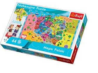 MAPA POLSKI puzzle 44 el.