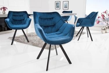 Krzesło velot niebieskie welur