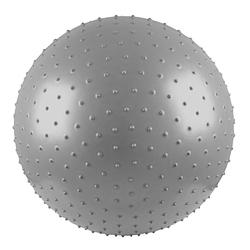 Pi�ka gimnastyczna masuj�ca 55 cm srebrna - Insportline - srebrny