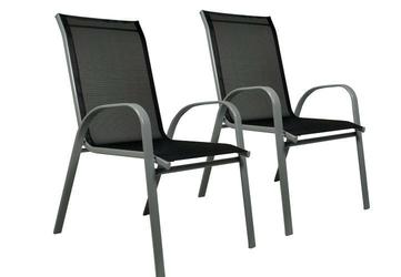 Zestaw dwóch krzeseł ogrodowych w kolorze antracytowym