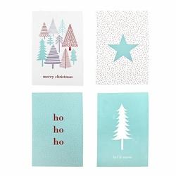 Kartki świąteczne mint 4 szt bloomingville