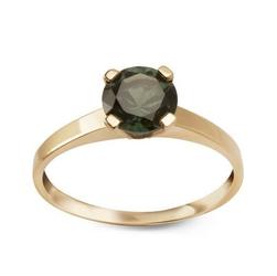 Staviori pierścionek. cyrkonia. żółte złoto 0,333.   model ozdobiono zieloną cyrkonią.