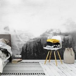 Tapeta na ścianę - woody mountains art , rodzaj - tapeta flizelinowa