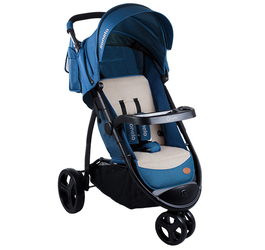 Lionelo Liv Blue Wózek Spacerowy Trzykołowy + Torba