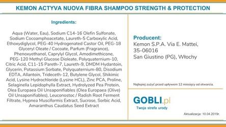 Kemon actyva nuova fibra szampon intensywnie odbudowujący włosy 250ml