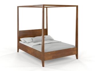 Łóżko drewniane sosnowe z baldachimem visby canopy