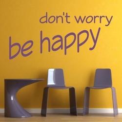 Dont worry be happy 1735 naklejka