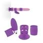 Vibokit - zestaw akcesori do wibratorów lelo, feelztoys, funfactory, fioletowy