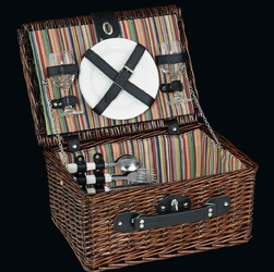 Kosz piknikowy dla 2 osób z kolorowym wnętrzem i wyposażeniem cilio bellagio - w ci-155761