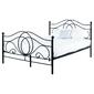 Łóżko metalowe Alice 160x200 czarne