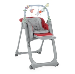 Chicco polly magic relax red krzesełko do karmienia + kubek + talerzyk