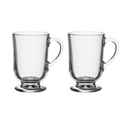 Kubek szklany  szklanka z uchem altom design werona 310 ml, komplet 2 kubków