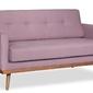Sofa klematisar tkanina łatwoczyszcząca 2-osobowa colourwash, braveheart bravehear chinchilla